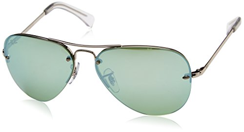 Ray-Ban Men's Metal Man Non-Polarized Iridium Aviator Sunglasses, Silver, 59 - Ray Sunglasses Ban About