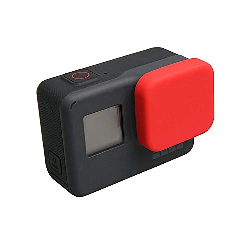 Action Pro Silicone Protective Lens Cap for GoPro Hero 5/6/7/2018 Black Action Camera Protector for Go Pro Accessories (Red)