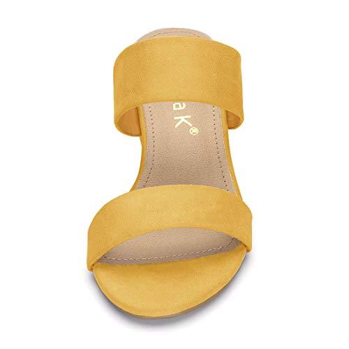 Heel Sandals Slide Allegra Women Yellow Dual Block K Straps Uxq7watq