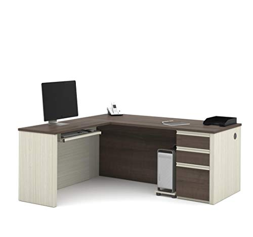 Bestar L-Shaped Desk with Pedestal - Prestige Plus