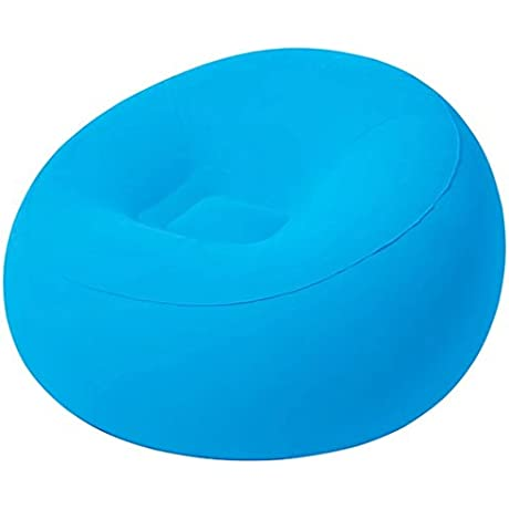 Modern Travel Home Simple Inflatable Sofa Creative Style Unique Blue Lazy Sofa
