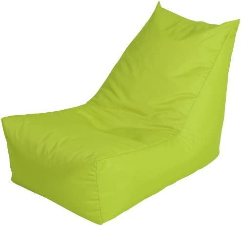 Bonkers Polyester Jazz Range Player Bean Bag Water Resistant with Beans Filling 1-Piece Black 50 x 56 x 85 cm