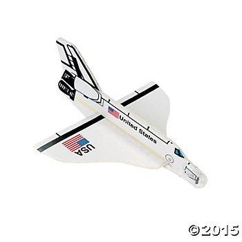 2 Dozen (24) US Space Shuttle FOAM Gliders - PARTY FAVORS - USA United States - Rocket -