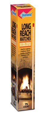 Diamond Long Reach Matches 5 Boxes of 75 each