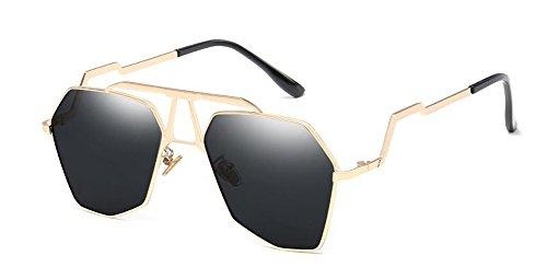 rond cercle polarisées en Complète soleil inspirées du Feuille lunettes de retro style B métallique vintage Lennon Grise vEqcB7UyR