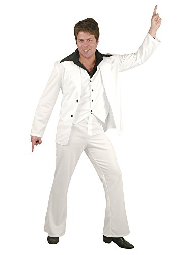 Charades Men's Disco Fever Suit, White Large ()