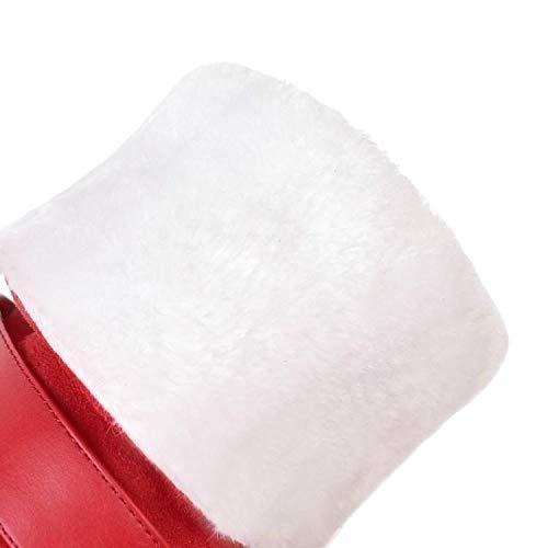 HBDLH Damenschuhe Kurzer Lauf Martin Martin Martin Stiefel Absatz 11 cm Hoch Velveted Dicker Winter Süß Bogen Zwei Tragen Hohe Stiefel 7e5961