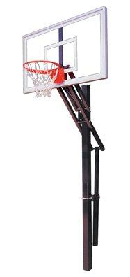 最初チームSlam Nitro steel-glass in ground調整可能バスケットボールsystem44、ブラック B01HC0BCUC