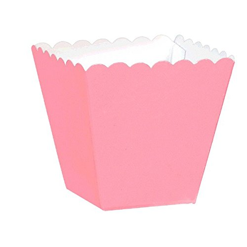Functional Scalloped Favor Box Wedding Party Gift and Treats Supplies, New Pink, 2