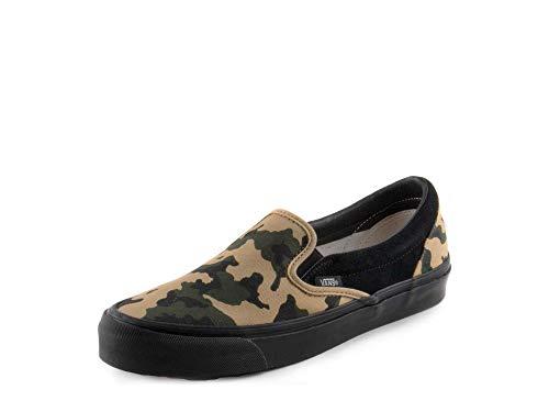 Vans Mens OG Classic Slip On Camo/Black Suede Size ()