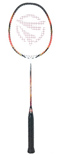Dynamic Shuttle Sports Ares Red 68 Premium Carbon Fiber Indoor/Outdoor Professional Badminton Racket - for Both Offensive and Defensive Players, Good for All Levels…