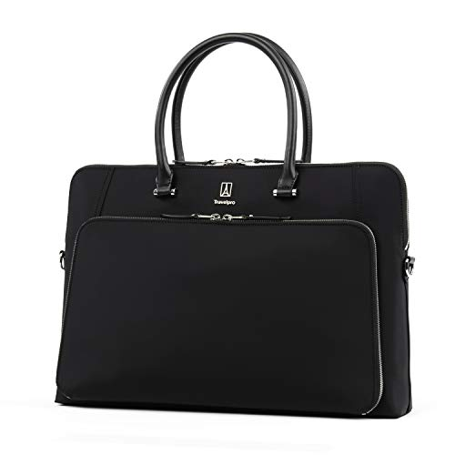 (Travelpro Luggage Platinum Elite Women's Briefcase, Black, One)