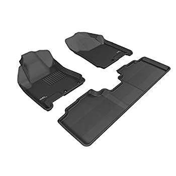 Image of 3D MAXpider Complete Set Custom Fit All-Weather Floor Mat for Select Cadillac SRX Models - Kagu Rubber (Black)