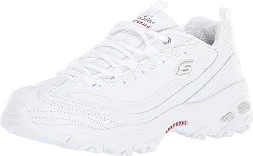 Skechers Women's D'Lites - Fresh Start White/Navy/Red 7.5 C US