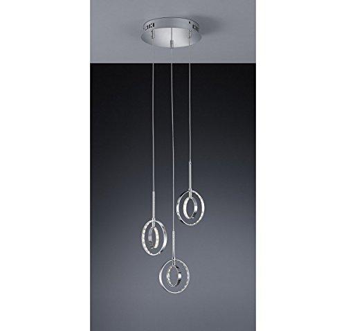 Quattro Four Light Chandelier - Arnsberg R32703906 Prater LED Chandelier in Chrome
