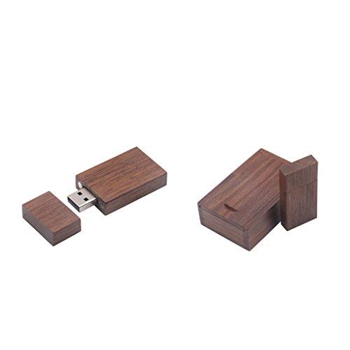 Homyl 2x (8G+4G) Maple Wood Cubic USB2.0 Memory Stick Thumb Pen Drive U-disk Mini