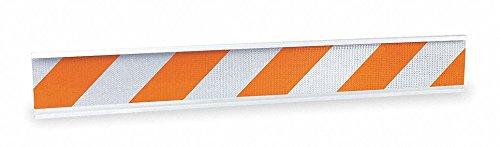 Barricade Beam, Orange, 72'' x 1'' x 8'', 2.5 lb, Polyethylene