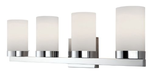 Canarm IVL429A04CH Milo 4-Light Bath Vanity Light - Silver 4 Light Vanity
