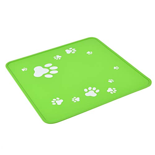 Ankway Silicone Mat Waterproof Non Slip Pet Food Tray for Cat Dog Feeder Bowl Water Fountain Dish