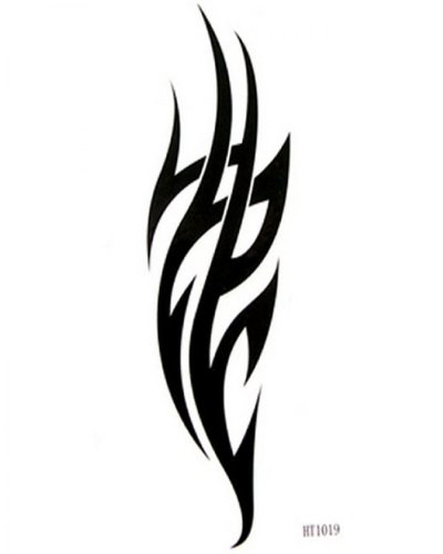 Flame fake tattoos Watertight male and female black totem tattoo creative DIY fake tattoos by LuTech (Flame Tattoo)