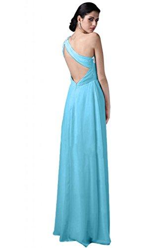 Blue da vestito d'onore damigella abito Chiffon sera elegante Sunvary Sweetheart da spalla Una xX7CRwqv