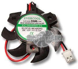 Evercool VC-EC5010M12S-B Video Card Fan 50mm x 10mm Round Frame by Evercool (Image #1)