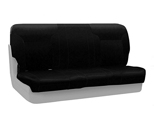 - Coverking Custom Fit Front Solid Bench Seat Cover for Select Toyota Pickup Models - Genuine Leather (Black)