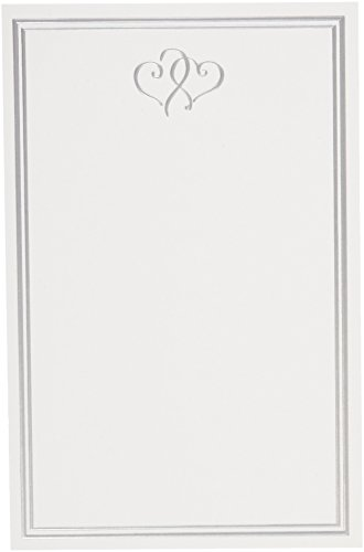 Gartner Studios Wedding Invitations + Cards, Platinum Hearts, 50-Count (61043)