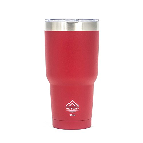 TRU FLASK Stainless Steel Double Wall Vacuum Insulated Travel Mug and Thermos - Ideal Coffee Mug and Tumbler for Hot and Cold Drinks - 30 OZ - State Rocks Glass Arizona