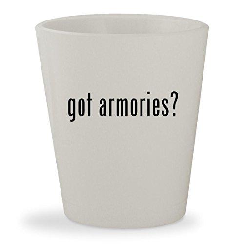 Got Armories    White Ceramic 1 5Oz Shot Glass