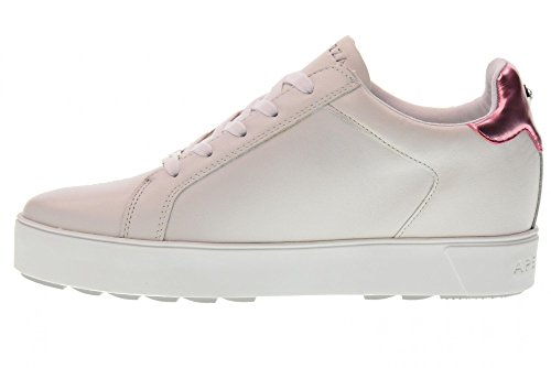 Apepazza Niedriger Keil Turnschuhe Schuhe RSW16/DIAMONDS Damienne White/Pink Bianco / Fucsia