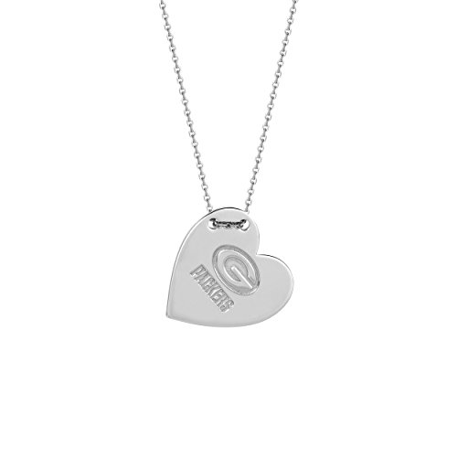 Green Bay Packers Necklace Licensed NFL Engraved Heart Pendant Sterling Silver