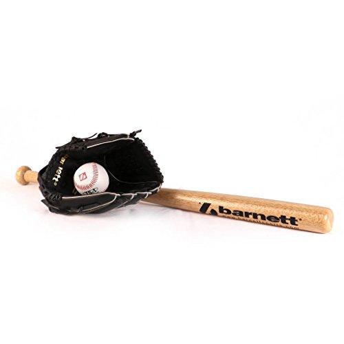 Barnett BGBW-3 Initiation Baseball Set, Youth - Ball, Glove, Wooden Bat (BB-W 25