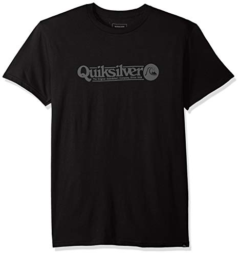 (Quiksilver Men's Art Tickle TEE, Black, L)
