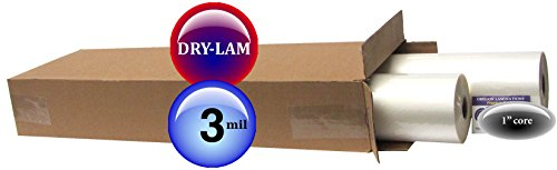 Dry-Lam School-Lam Hot Laminating Film 25-inch x 250-feet x 1-inch core (4 Rolls) 3.0 Mil ()