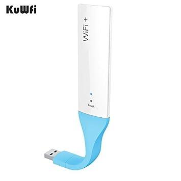 kuwfi Smart USB inalámbrico extensor amplificador de señal WiFi gama repetidor amplificador de señal funciona con