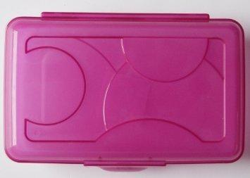 Pink Plastic Case (Sterilite Pink Transparent Pencil Case Box)