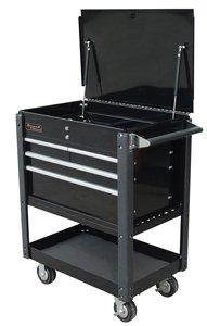 Homak 35-Inch Professional Series 4-Drawer Service Cart, Black, (Chest Professional Series Tool Storage)