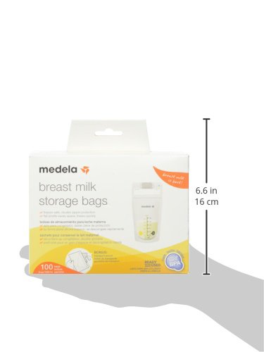 Medela Breast Milk Storage Bags, 100 Count, Ready To Use -6507