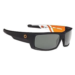 Spy Optic General Wrap Sunglasses, Happy Gray/Green, 1.5 mm