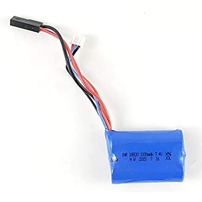 7.4V 1100mAh Rechargeable Li-ion Battery Replacement Part Works with Haktoys HAK735 Large RC Helicopter and Other Compatible RC Hobby Products: Toys & Games