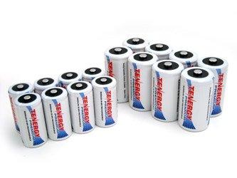 Special Battery Saving Combo: 8 pcs Tenergy Premium C 5000mAh + 8 pcs Premium D 10000mAh NiMH Rechargeable Batteries