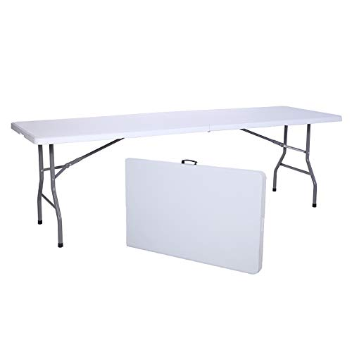 Uenjoy 8' Portable Folding Table Indoor Outdoor Party Picnic Camping Dining ()