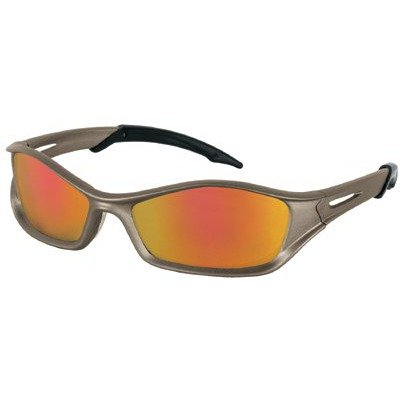 Crews Glasses 135-TB110AF Tribal Safety Glass with Graphite Frame, Clear Lens, Anti-Fog