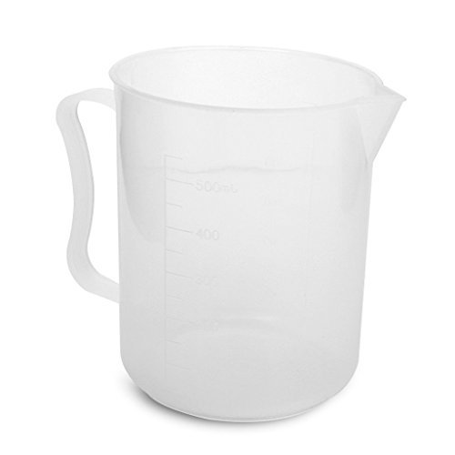 500mL Graduated Transparent Plastic Handle Design Cup Beaker 290643842