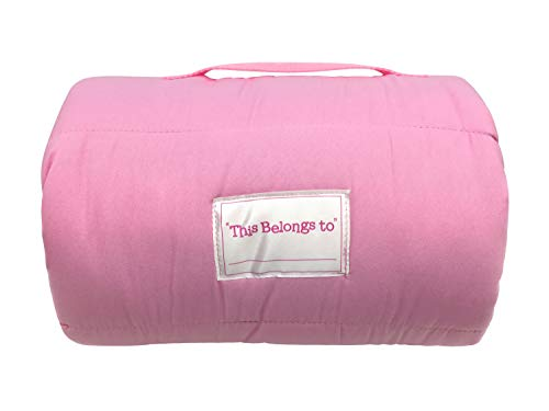 Jay Franco Miffy Pink Daisy Nap Mat - Built-in Pillow and Blanket - Super Soft Microfiber Kids'/Toddler/Children's Bedding, Ages 3-5 (Official Miffy Product)