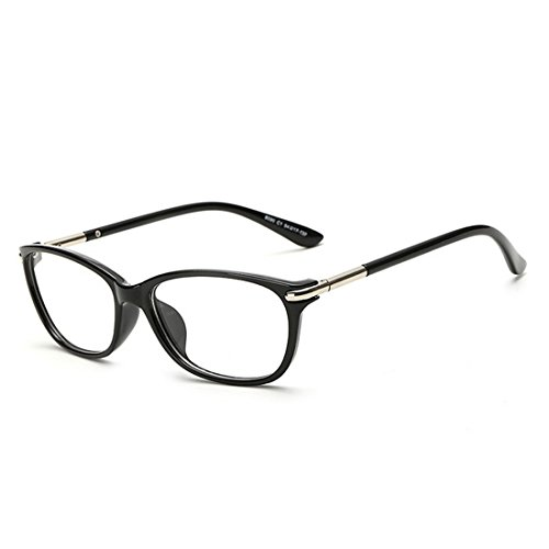b088f271ab D.King Vintage Horn Rimmed Cat Eye Eyeglasses Frame Glasses Clear Lens -  Oval Glasses