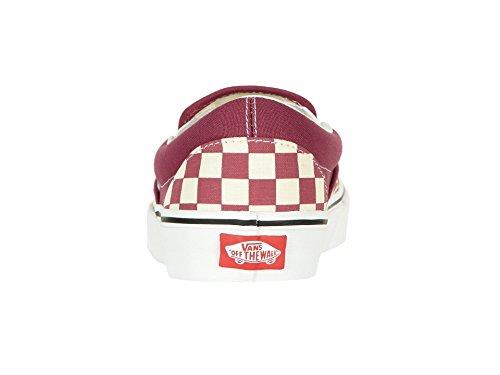 Rose Checker White On Vans Classic Skate Shoes Slip Dry qxH0XZ1wH