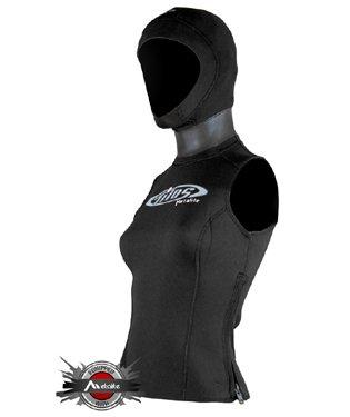 Hooded Scuba Diving Vest - Tilos Women's 5/3mm MetaLite Scuba Diving Snorkeling Hooded Vest (SM)