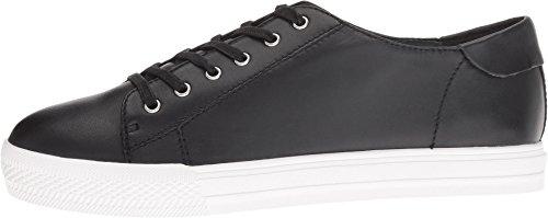 Neuf Ouest Femmes Patrick En Cuir Mode Sneaker En Cuir Noir